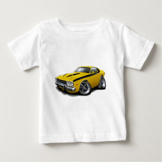 1973-74 Roadrunner Yellow-Black Car Baby T-Shirt