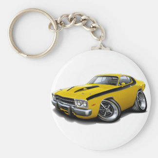 1973-74 Roadrunner Yellow-Black Car Keychain