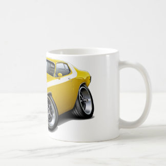 1973-74 Roadrunner Yellow-White Car Coffee Mug