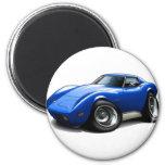 1973-76 Corvette Blue Car Refrigerator Magnet