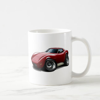 1973-76 Corvette Maroon Car Coffee Mug