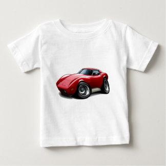 1973-76 Corvette Red Car Baby T-Shirt