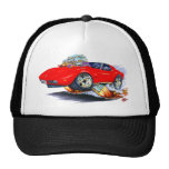 1973-76 Corvette Red Car Hats