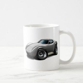 1973-76 Corvette Silver Car Coffee Mug
