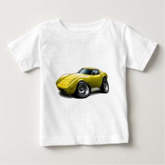 1973-76 Corvette Yellow Car Baby T-Shirt