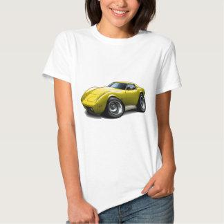 1973-76 Corvette Yellow Car T Shirt