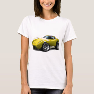 1973-76 Corvette Yellow Car T-Shirt