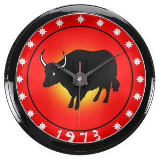 1973 años del buey relojes acuario