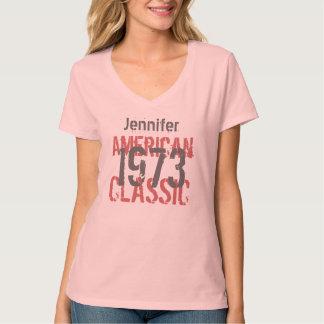 1973 Birthday Year American Classic Pink Gray Y006 T-Shirt
