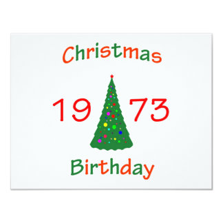 1973 Christmas Birthday Card