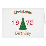 1973 Christmas Birthday Greeting Card
