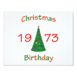 1973 Christmas Birthday Personalized Announcements