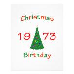 1973 Christmas Birthday Personalized Letterhead