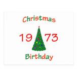 1973 Christmas Birthday Post Cards