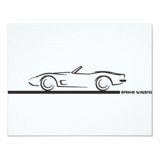 1973 Corvette Convertible BLK 4.25x5.5 Paper Invitation Card