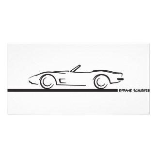 1973 Corvette Convertible BLK Photo Card