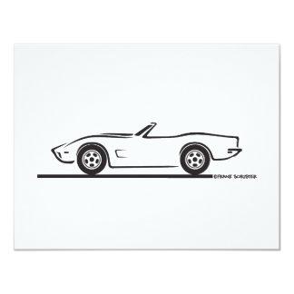 1973 Corvette Convertible 4.25x5.5 Paper Invitation Card
