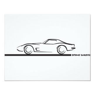 1973 Corvette Hardtop BLK 4.25x5.5 Paper Invitation Card