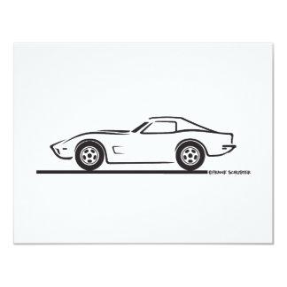 1973 Corvette 4.25x5.5 Paper Invitation Card