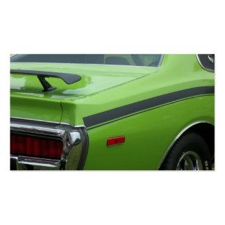 1973 cuartos verdes de la parte posterior de la be plantillas de tarjetas personales