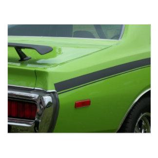 1973 cuartos verdes de la parte posterior de la be tarjetas postales
