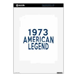 1973 diseños del cumpleaños de la leyenda del calcomanías para iPad 2