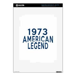 1973 diseños del cumpleaños de la leyenda del iPad 3 skins