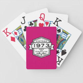 1973 envejecido a la perfección barajas de cartas
