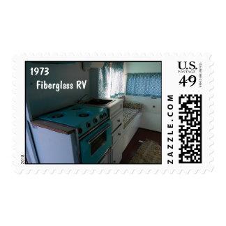1973 Fiberglass RV Turquoise Stamp