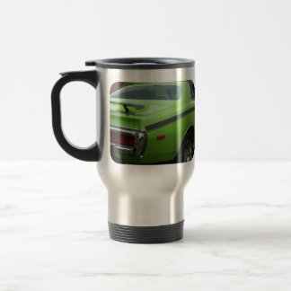 1973 Green Dodge Charger SE Brougham rear quarter Travel Mug