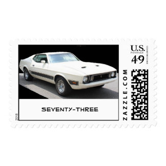 1973 Mustang Mach I (white w/black stripes) Stamp