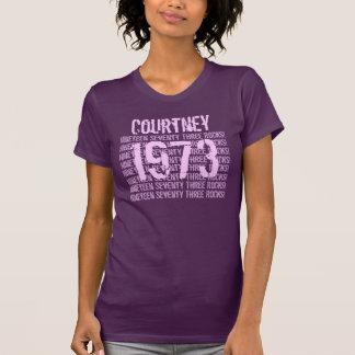 1973 o cuaesquiera 50.as púrpuras del regalo de cu camisetas