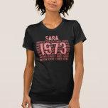 1973 o cuaesquiera 50.os negros del personalizado  camiseta