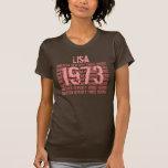 1973 o cuaesquiera 50.os personalizados Brown del  Camiseta