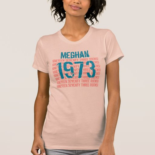 1973 Or Any Year 40th Birthday Gift Peach V015 Shirt Zazzle