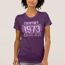 1973 or Any Year 50th Birthday Gift  Purple T-Shirt
