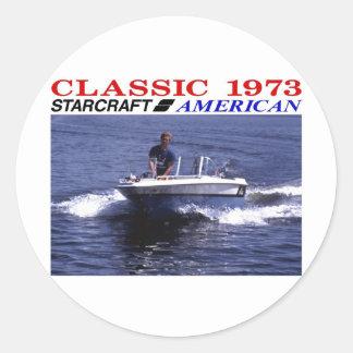 1973 Starcraft American Classic Round Sticker