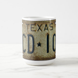 1973 Texas License Plate Mug