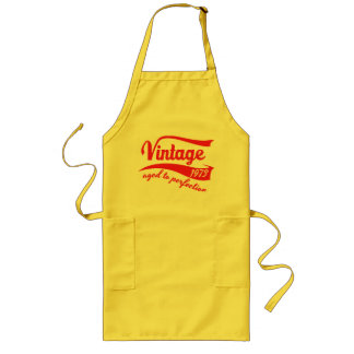 1973 vintage aged to perfection 40 birhtday apron