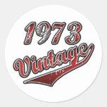 1973 Vintage Round Sticker
