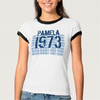 1973 Vintage Year 40th Birthday Blue V8 T-Shirt