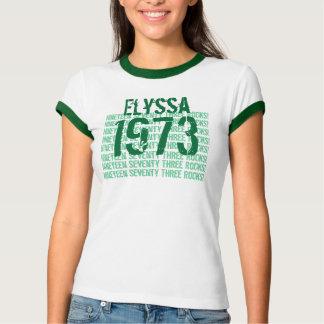 1973 Vintage Year 40th Birthday Green White V2 T-Shirt