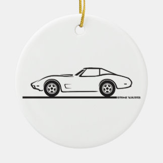 1974 1975 1976 1978 Chevrolet Corvette Hard Top T Ceramic Ornament