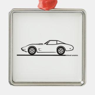 1974 1975 1976 1978 Chevrolet Corvette Hard Top T Metal Ornament