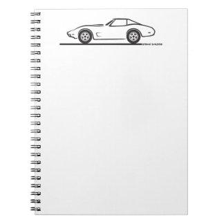 1974 1975 1976 1978 Chevrolet Corvette Hard Top T Spiral Note Books