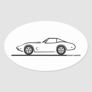 1974 1975 1976 1978 Chevrolet Corvette Hard Top T Oval Sticker
