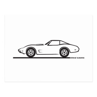 1974 1975 1976 1978 Chevrolet Corvette Hard Top T Postcard