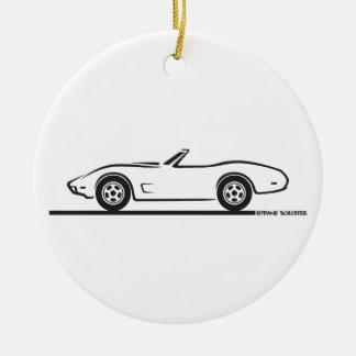 1974 - 1977 Corvette Convertible Ceramic Ornament