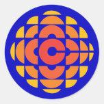 1974-1986 retro pegatina redonda