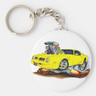 1974-76 Firebird Yellow Car Basic Round Button Keychain